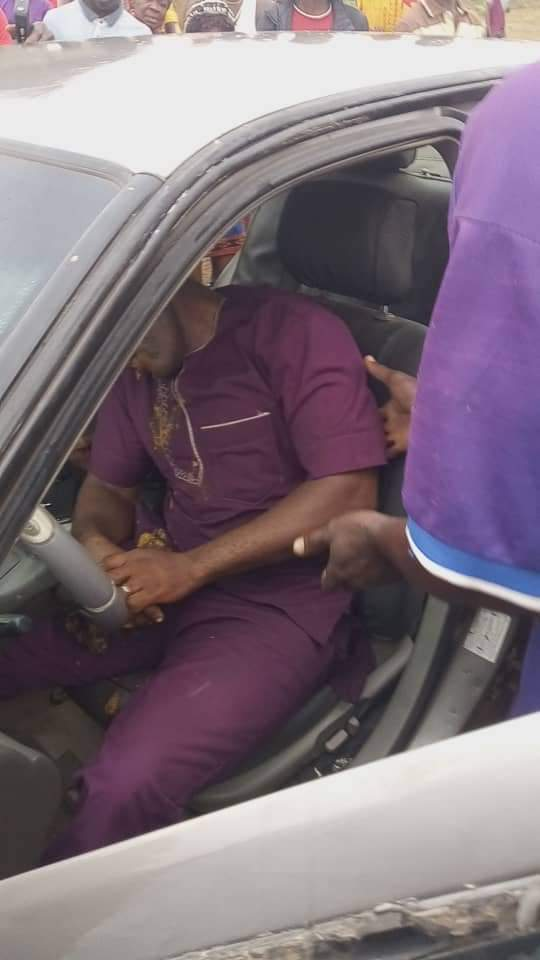 Reverend Father Found Dead inside His Car (Photos)