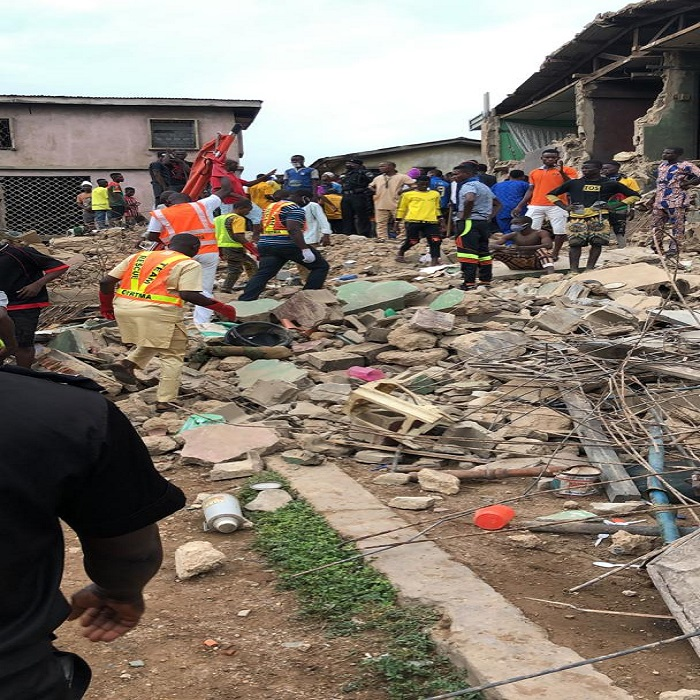 Woman Dies in a Collapsed Building