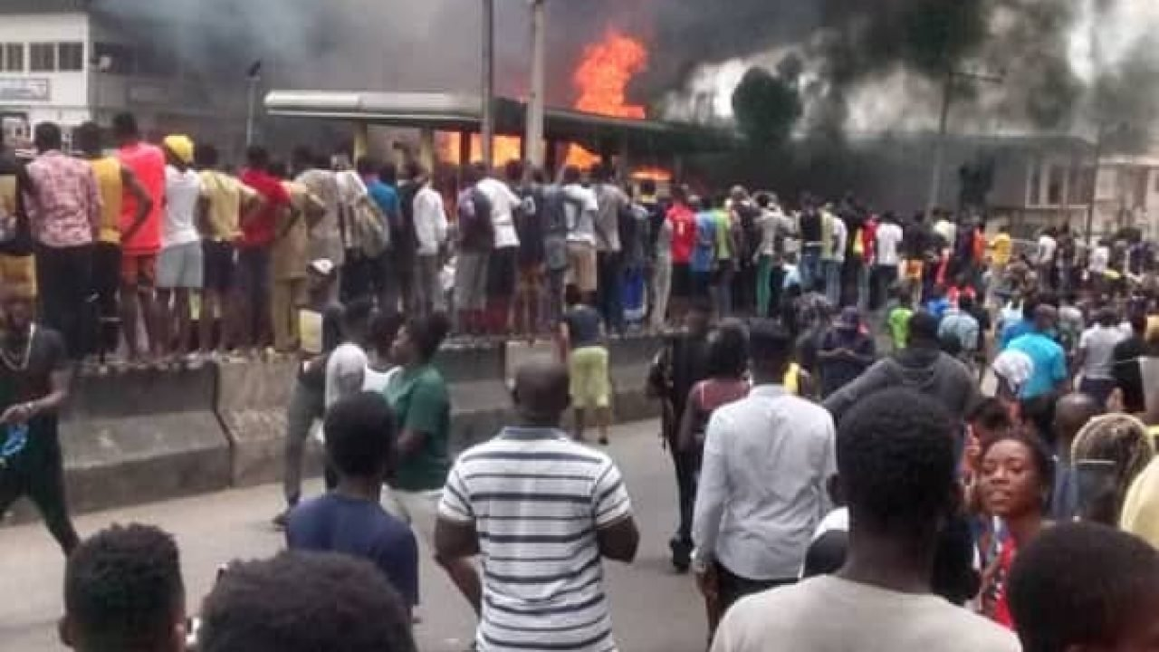NNPC Fuel Station on Fire in Lagos