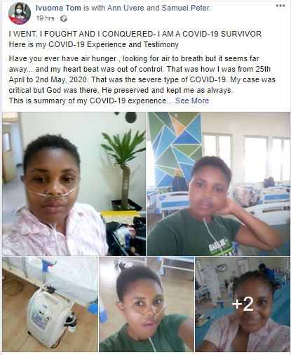 Nigerian Lady Who Recently Recovered From COVID-19 Shares Experience