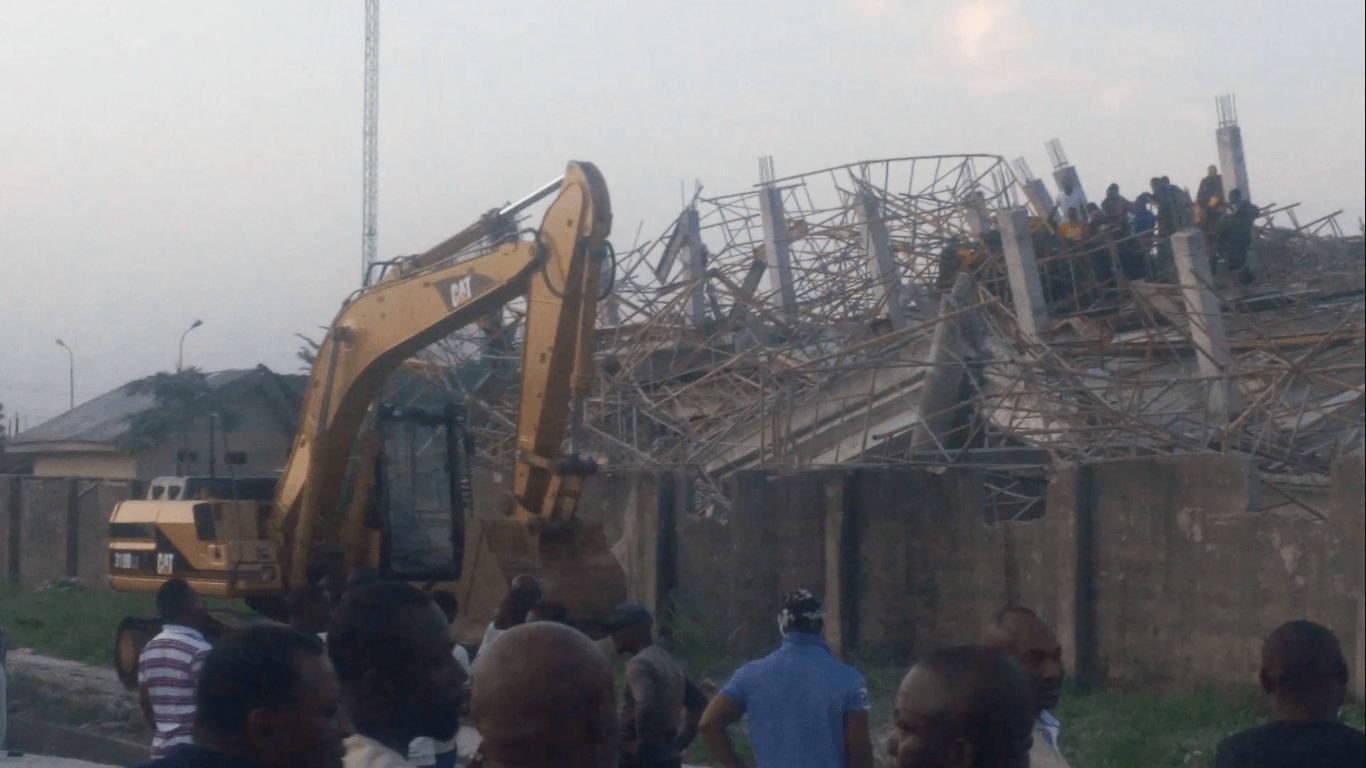 1 Dead as 8 Story Building Collapsed in Imo