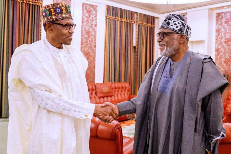Photo of Akeredolu Gets Buhari's 'Approval' for 2nd Term