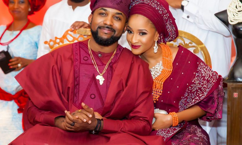 Photo of Adesua Etomi Pens Emotional Note to Banky W as They Celebrates Anniversary